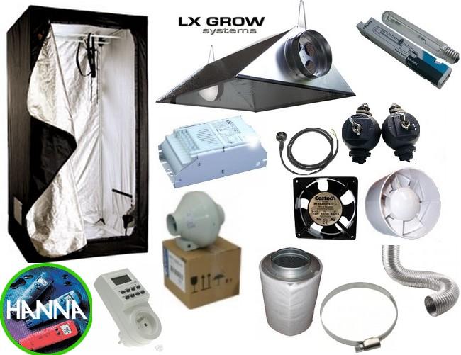 """Pack Chambre de culture """"BOX + Lampe HPS/MH 9W + Extracteur"""""""