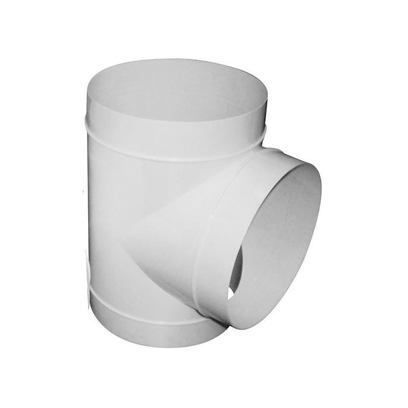 raccord t 150mm pvc conduits de ventilation. Black Bedroom Furniture Sets. Home Design Ideas